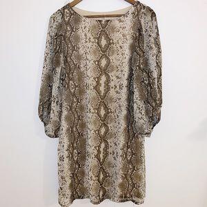 Yohada🐍 python print dress with open sleeve sz lg